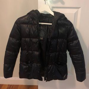 ADD juniors Black Puffer Jacket Size